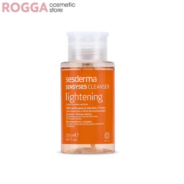 پاک کننده روشن کننده سسدرما مدل سنسی سس لایتنینگ250میل Sesderma Lightening Sensyses Cleanser 250ml
