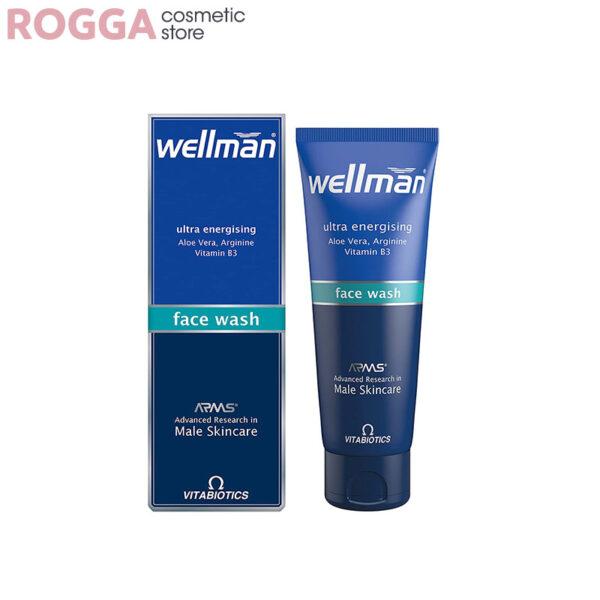 ژل شوینده صورت آقایان ولمن125میل Wellman Face Wash Gel for Men 125ml