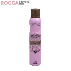 اسپری زنانه بادی کر مدل آمور حجم 200میل Body Care Perfumed deodorant Amour 200ml