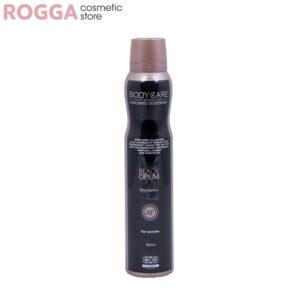 اسپری زنانه بادی کر مدل بلک اوپیوم حجم 200میل Body Care Perfumed deodorant Black Opium 200ml