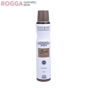 اسپری زنانه بادی کر مدل فلورا گوچی حجم 200میل Body Care Perfumed deodorant Flora GUCCI 200ml