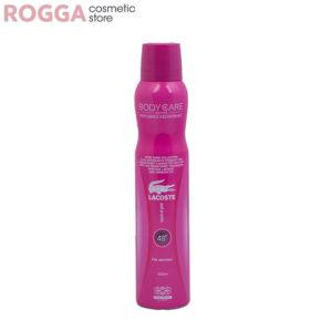 اسپری زنانه بادی کر مدل لاگوست پینک (صورتی) حجم 200میل Body Care Perfumed deodorant LACOSTE TOUCH OF PINK 200ml