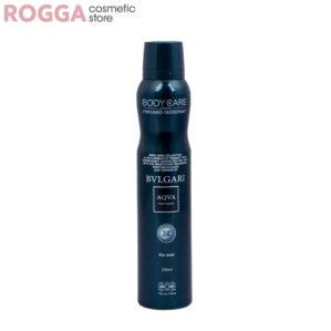 اسپری مردانه بادی کر آکوا بولگاری حجم 200میل Body Care Perfumed deodorant Bvlgari Aqva 200ml