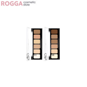 پالت چند رنگ کانسیلر و کانتور گلدن رز Multi-color concealer palette and contour Golden Rose