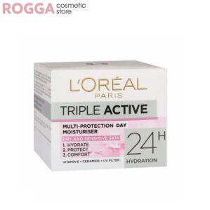 کرم آبرسان لورآل LOreal مدل Triple Active حجم ۵۰ میلی لیتر